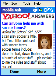 Yahoo Ask Mobile
